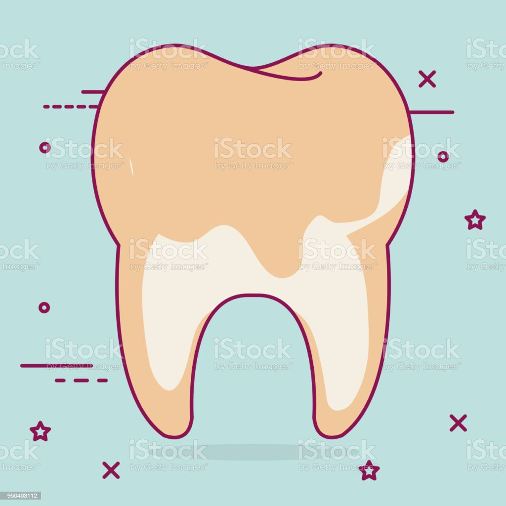 Tooth Dirty Dental Care Icon Stock Vector Art & More Images of ...