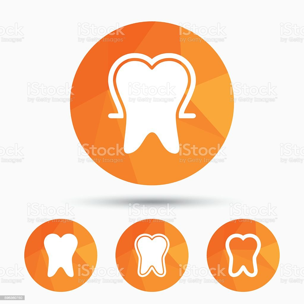 Tooth enamel protection icons. Dental care signs royalty-free tooth enamel protection icons dental care signs stock vector art & more images of badge