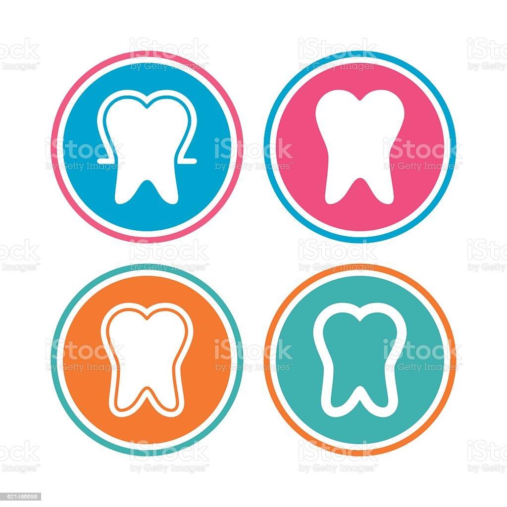 Tooth enamel protection icons. Dental care signs. tooth enamel protection icons dental care signs - immagini vettoriali stock e altre immagini di applicazione mobile royalty-free