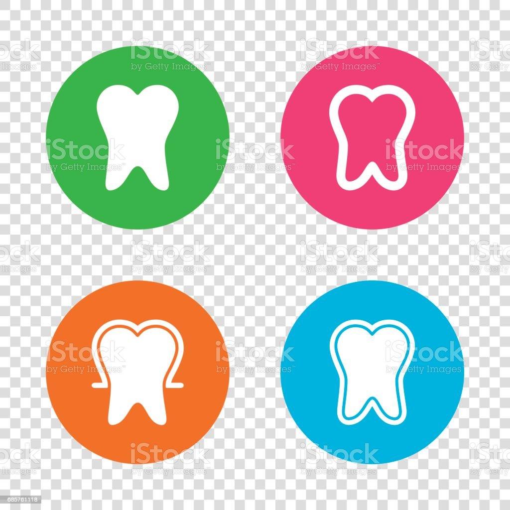 Tooth enamel protection icons. Dental care signs. tooth enamel protection icons dental care signs - immagini vettoriali stock e altre immagini di accudire royalty-free