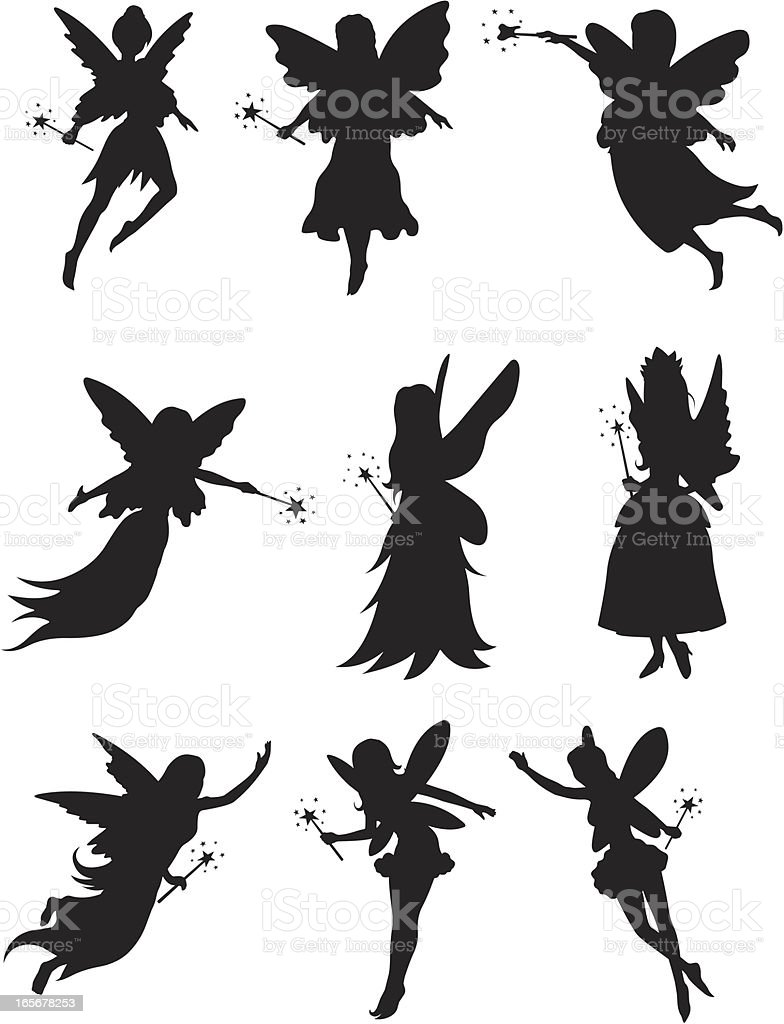 Tooth Fairies vector art illustration