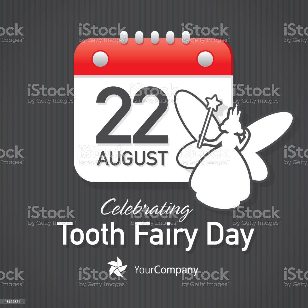 Tooth Fairy Appreciation Day Calendar design layout template vector art illustration