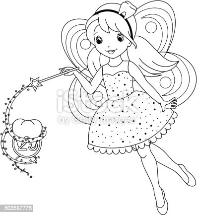 Tooth Fairy Coloring Page Stock Vector Art & More