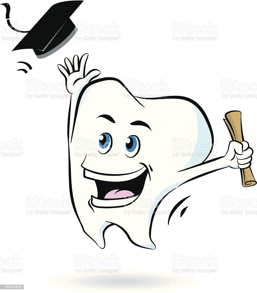 Tooth Graduate royalty-free stock vector art