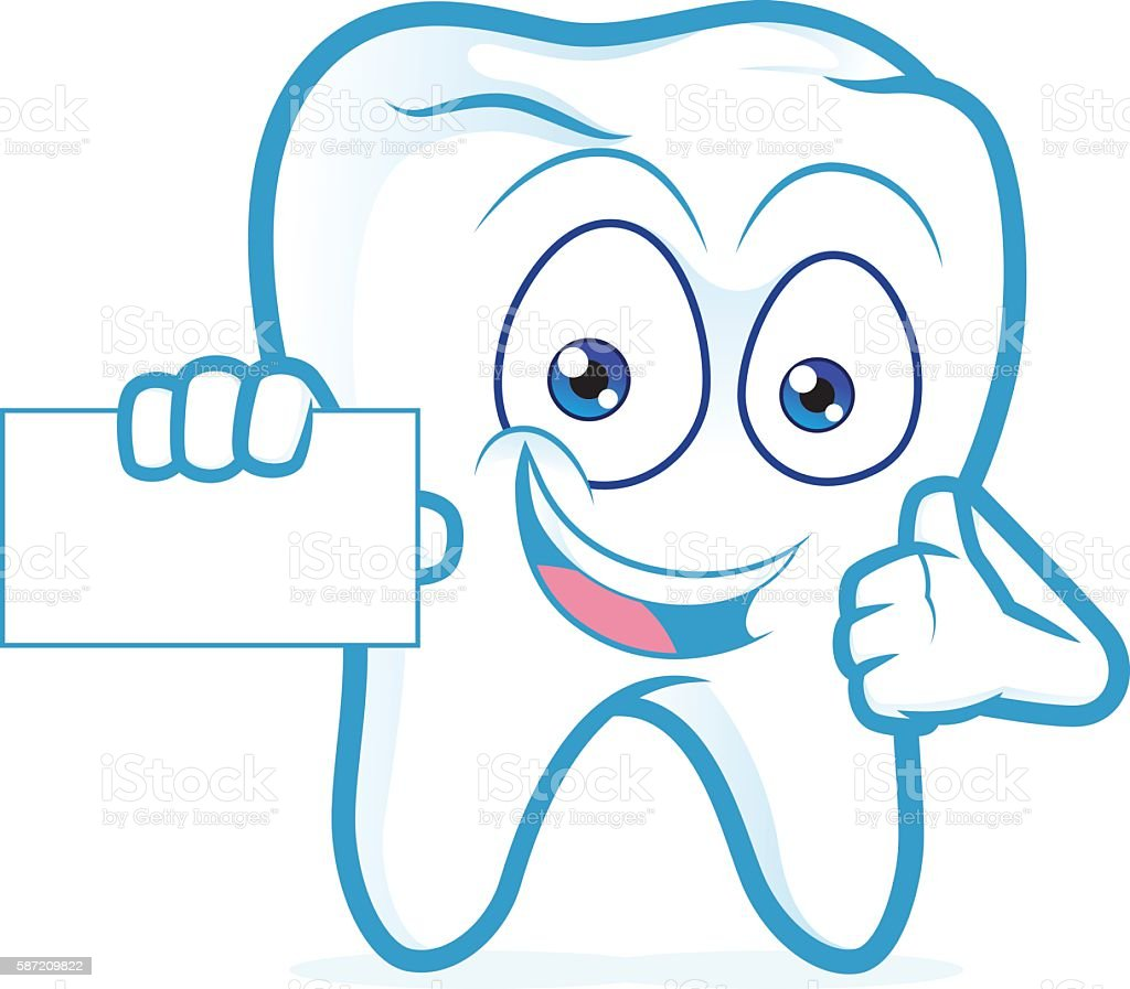 Tooth Holding A Blank Business Card Stock Vector Art & More Images ...