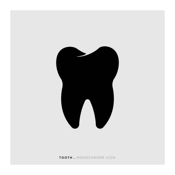 illustrazioni stock, clip art, cartoni animati e icone di tendenza di tooth icon - denti