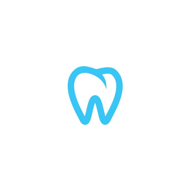 zahn-symbol - zahnarzt logos stock-grafiken, -clipart, -cartoons und -symbole