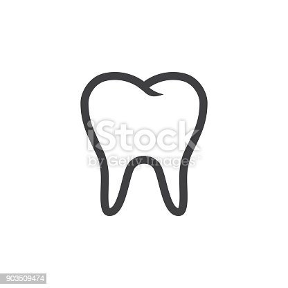 istock Tooth Icon Vector 903509474