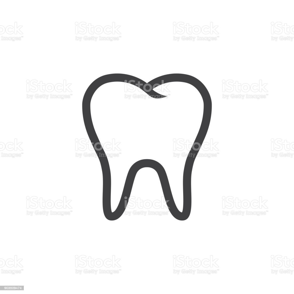 Tooth Icon Vector vector art illustration