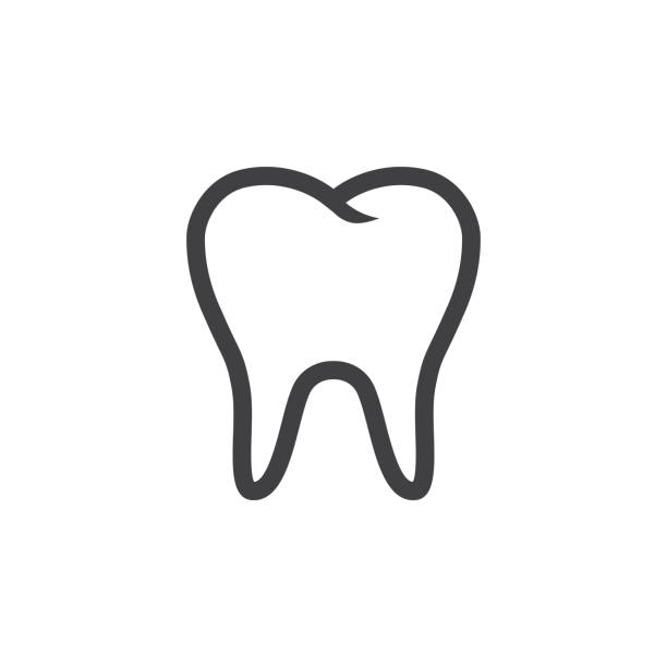 illustrazioni stock, clip art, cartoni animati e icone di tendenza di tooth icon vector - denti