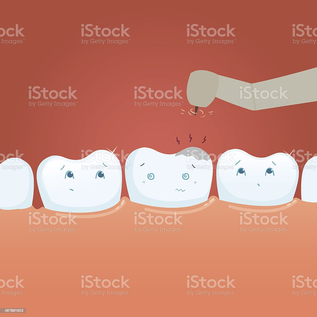 Tooth life royalty-free stock vector art
