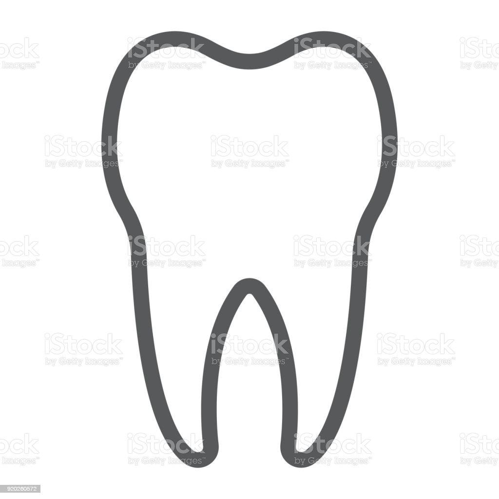 Liniensymbol Zahn Zahnmedizin Und Zahnärztliche Gesunde Dent ...