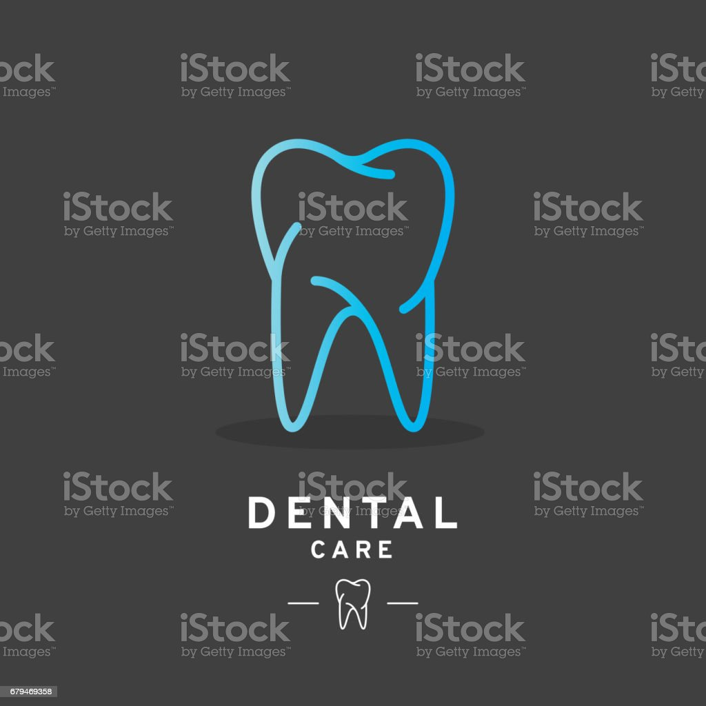 Tooth logo, Dental care icon vector art illustration