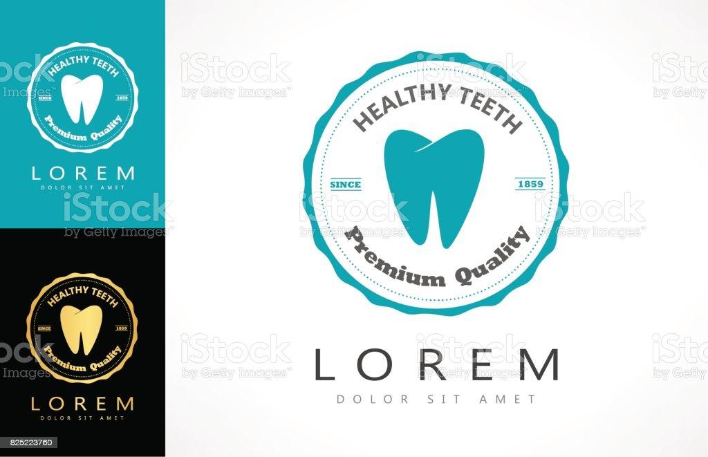 logo del diente - ilustración de arte vectorial