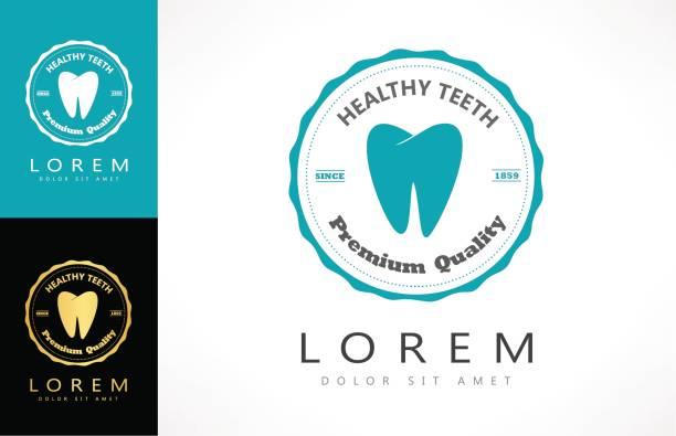 zahn-logo - zahnarzt logos stock-grafiken, -clipart, -cartoons und -symbole