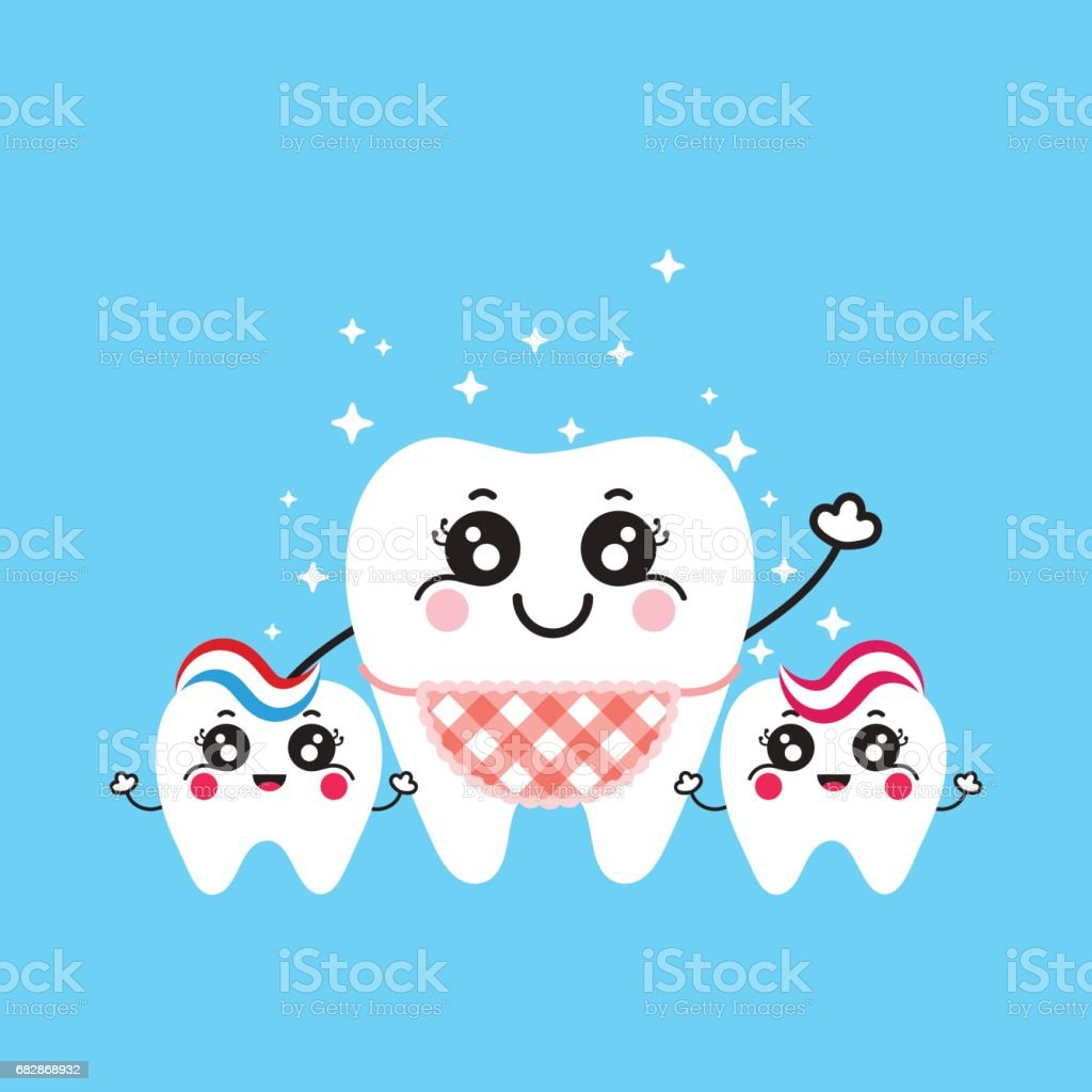 Tooth Mom With Kids Teeth Illustration For Mothers Day Stock Vector