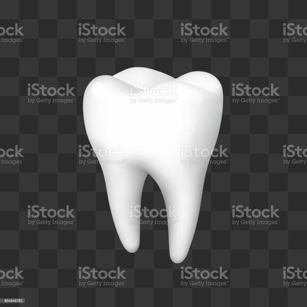 Zahn Auf Einem Schwarzen Hintergrund Stock Vektor Art und mehr ...