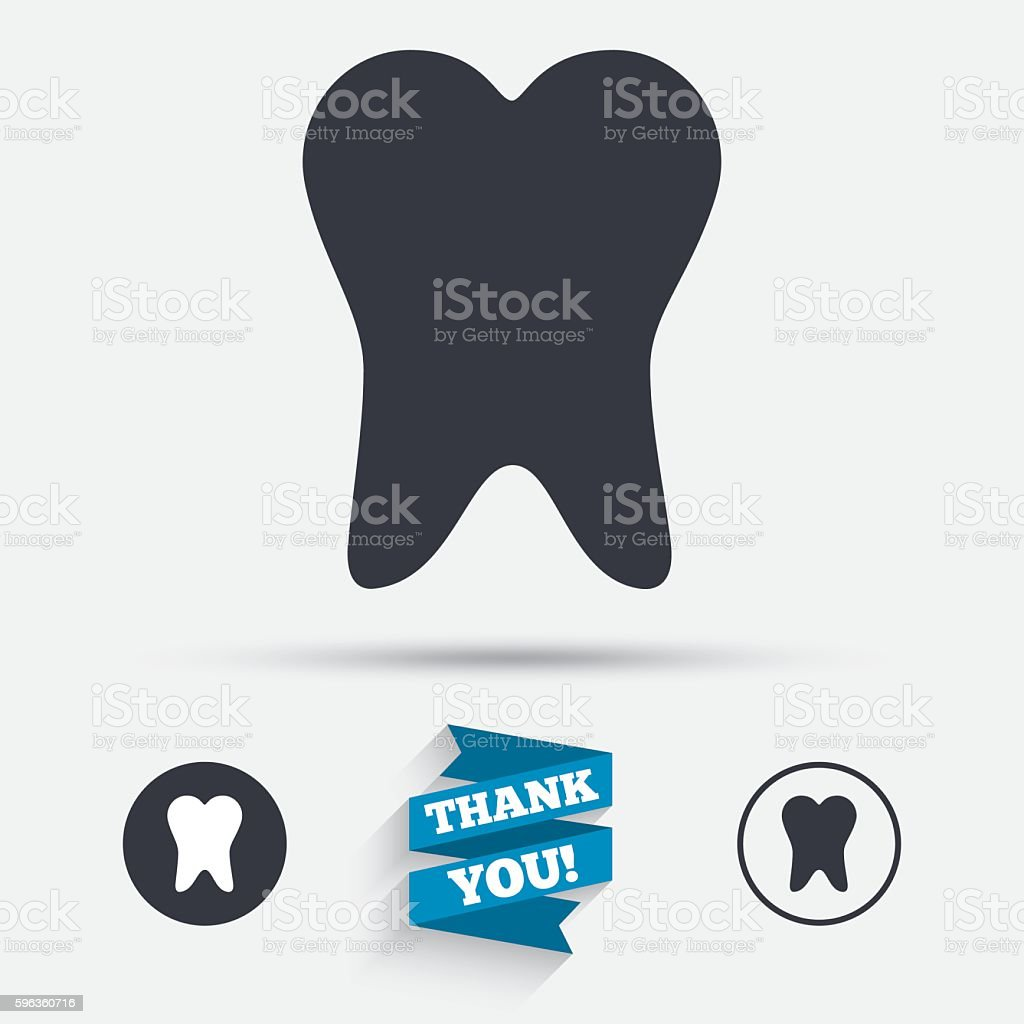 Tooth sign icon. Dental care symbol. royalty-free tooth sign icon dental care symbol stock vector art & more images of badge