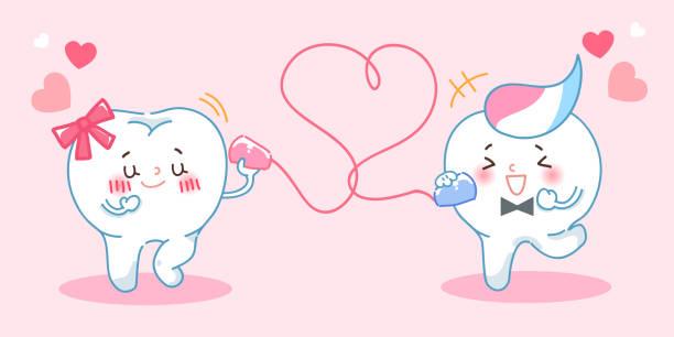 bildbanksillustrationer, clip art samt tecknat material och ikoner med tand användning kan ringa - molar