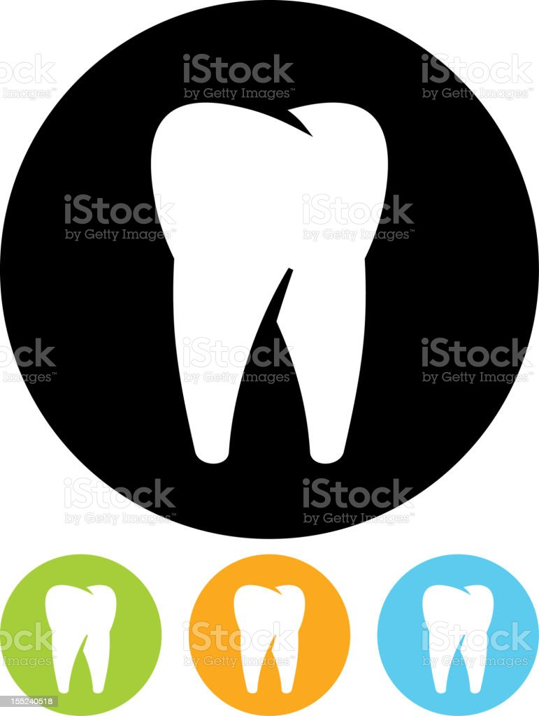 Tooth vector icon isolated royalty-free stock vector art