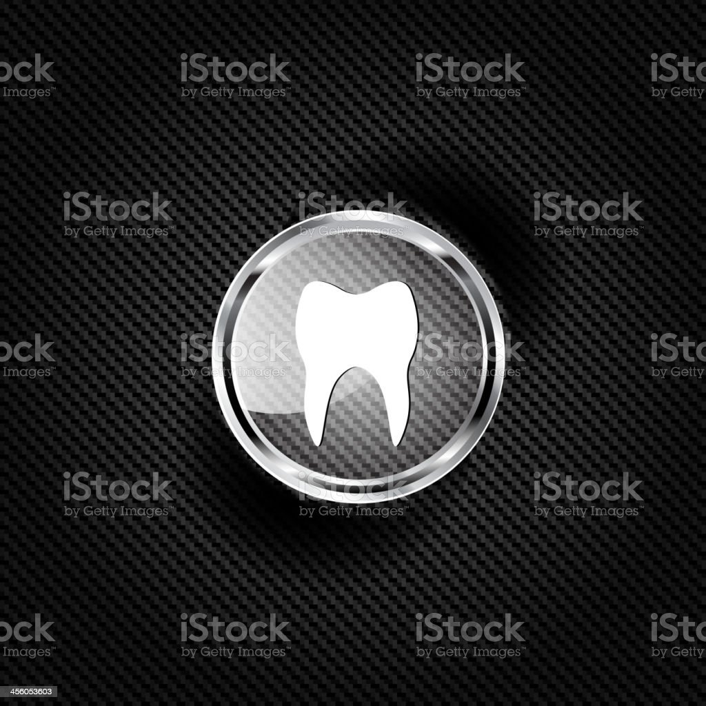 Tooth web icon royalty-free stock vector art