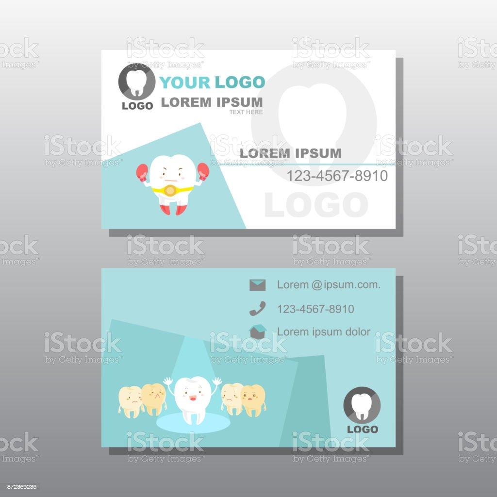 Zahn Mit Visitenkarte Stock Vektor Art Und Mehr Bilder Von