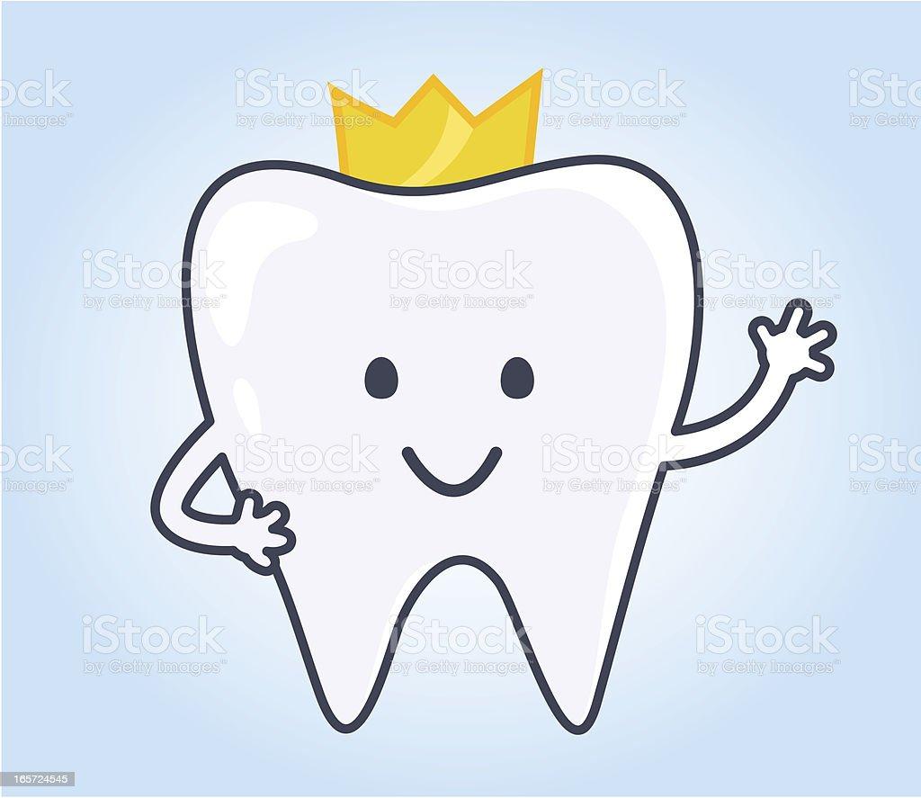 Ilustración de dientes con corona y más banco imágenes