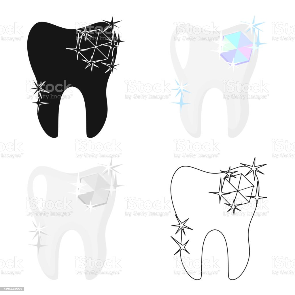 Tooth with diamond icon in cartoon style isolated on white background. Dental care symbol stock vector web illustration. tooth with diamond icon in cartoon style isolated on white background dental care symbol stock vector web illustration - stockowe grafiki wektorowe i więcej obrazów biżuteria royalty-free