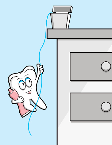 Tooth with paste