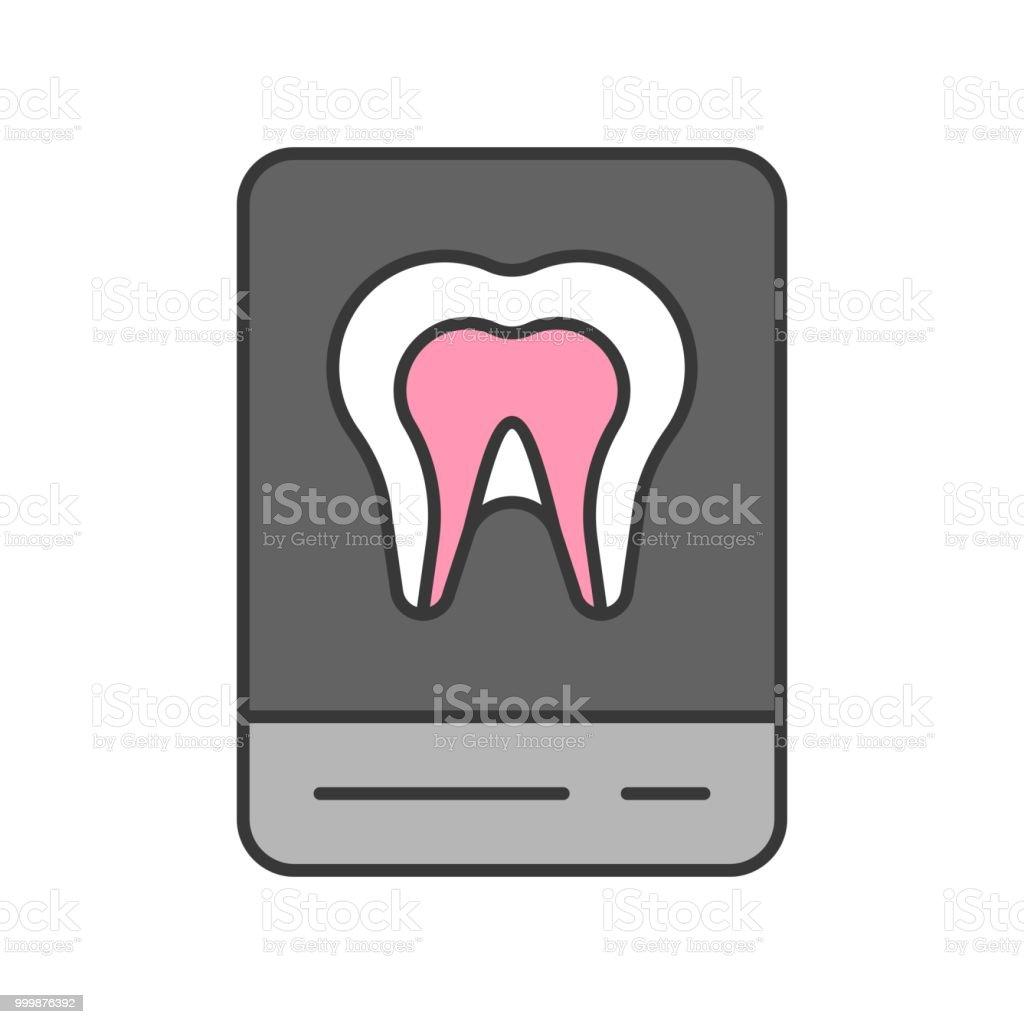 Ilustración de Película De Rayos X Dental Icono Relacionado Contorno ...