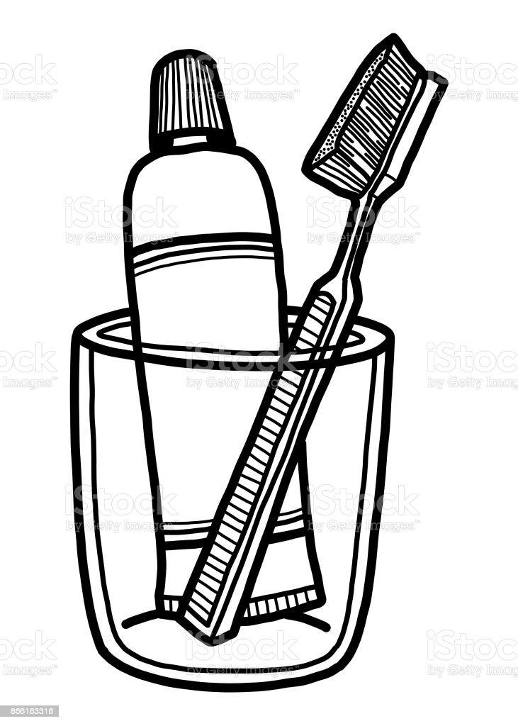 歯ブラシ歯磨き粉 いたずら書きのベクターアート素材や画像を多数ご