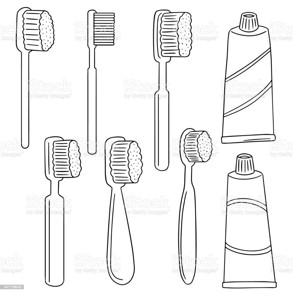 Diş Fırçası Ve Diş Macunu Stok Vektör Sanatı Animasyon Karakter