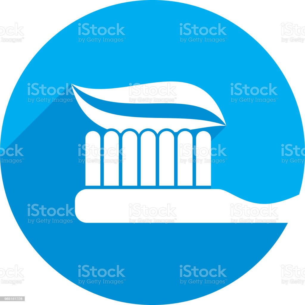 Toothbrush Icon Silhouette royalty-free toothbrush icon silhouette stock vector art & more images of blue