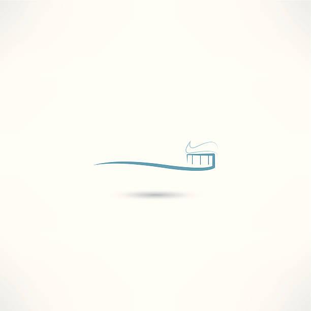 toothbrush icon vector art illustration