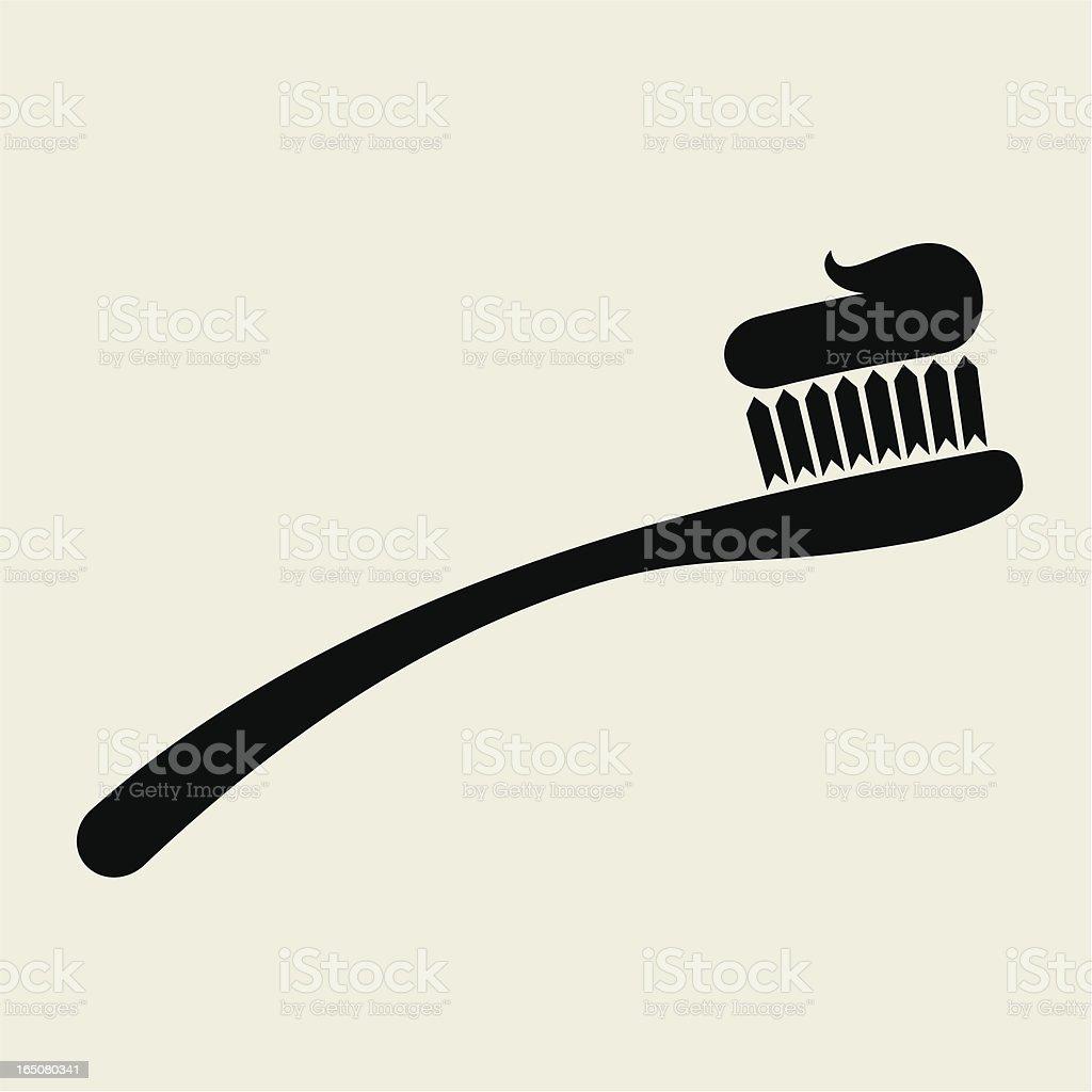 Toothbrush vector art illustration