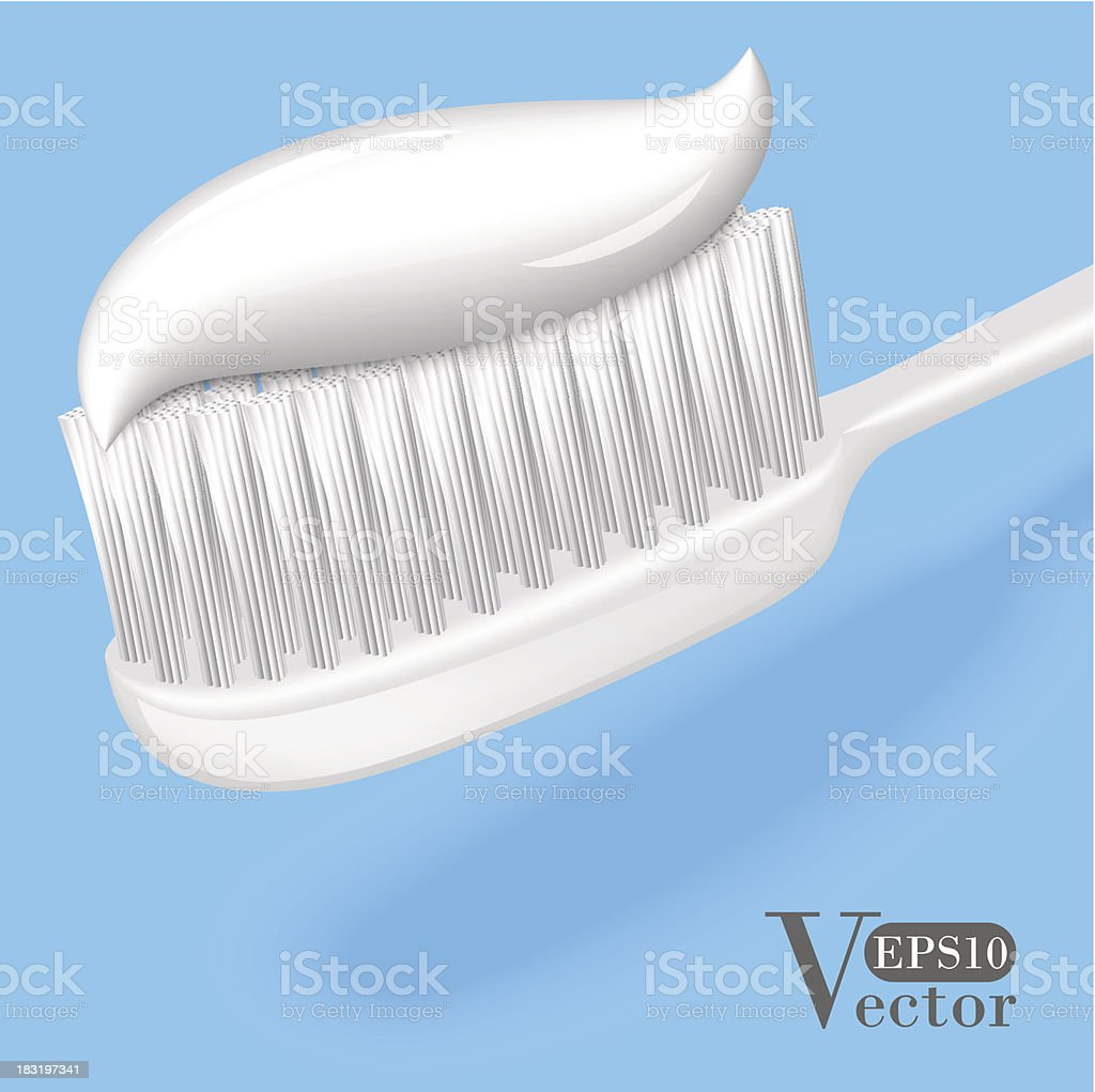 Toothbrush with Toothpaste royalty-free toothbrush with toothpaste stock vector art & more images of close-up