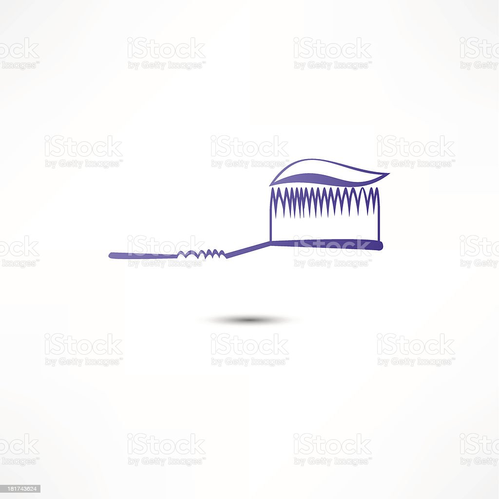 Toothpaste And Toothbrush Icon royalty-free stock vector art