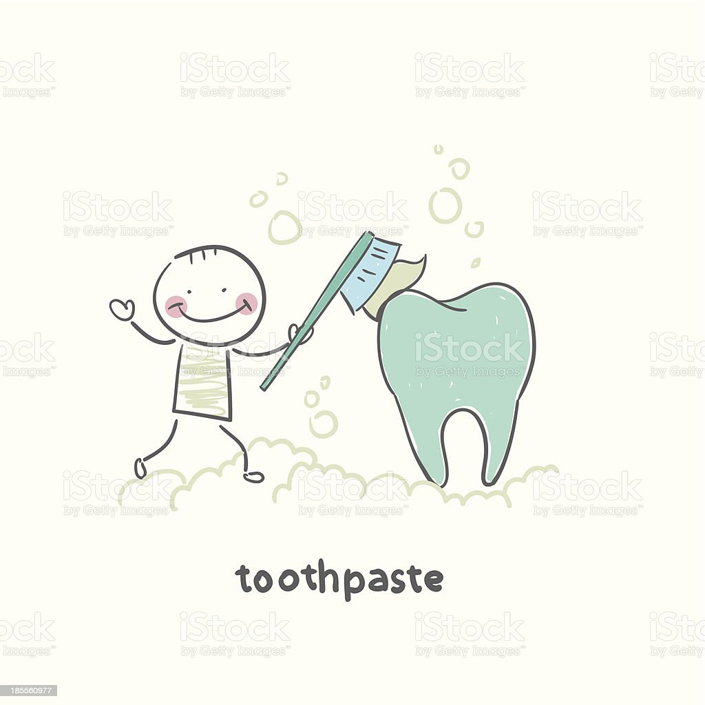 toothpaste royalty-free stock vector art