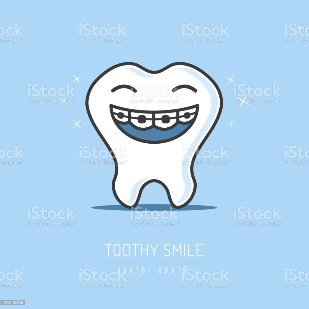 Toothy Smile vector art illustration