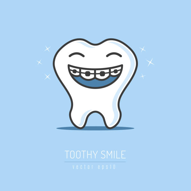 toothy smile - toothy smile stock illustrations