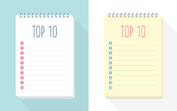 Top 10 List A set of Top 10 list vector templates, insert you own list! This is an editable EPS 10 vector illustration with CMYK color space. list stock illustrations