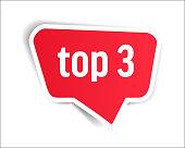 Top 3 - Speech Bubble, Banner, Paper, Label Template. Vector Stock Illustration