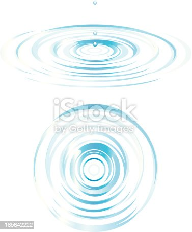 istock Top and Side View of Ripples 165642222