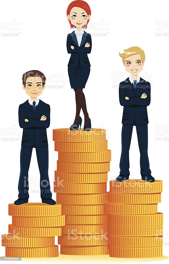 Top Business Woman royalty-free stock vector art