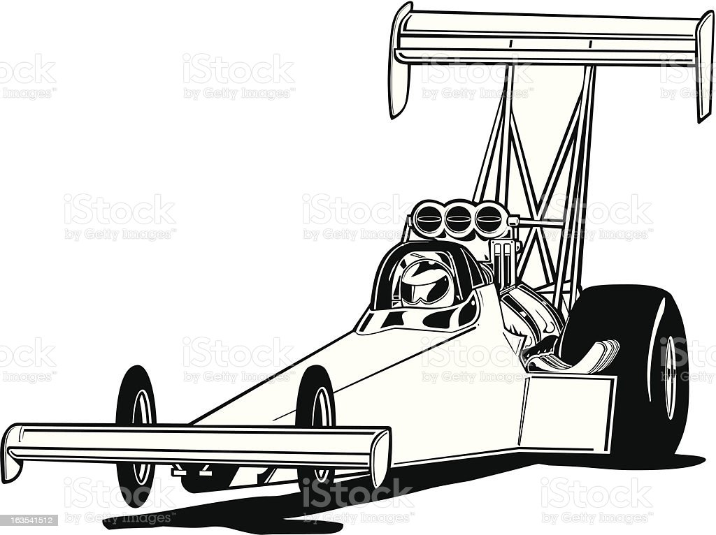 Top Fuel Dragster Stock Vector Art & More Images of Amusement Park ...