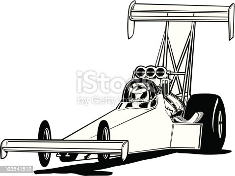 Top Fuel Dragster Stock Vector