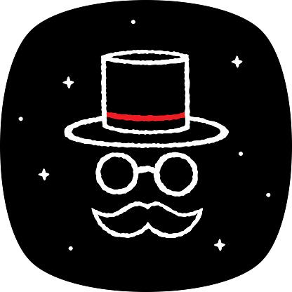 Top Hat Face Doodle 3