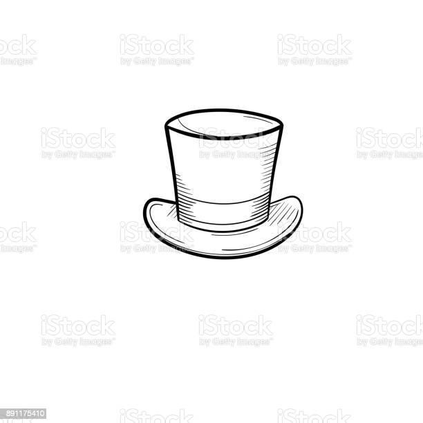 Top hat hand drawn sketch icon vector id891175410?b=1&k=6&m=891175410&s=612x612&h=izifzzhphshzl1watpatwnepjlsyvvg66wfcgu2xwuw=