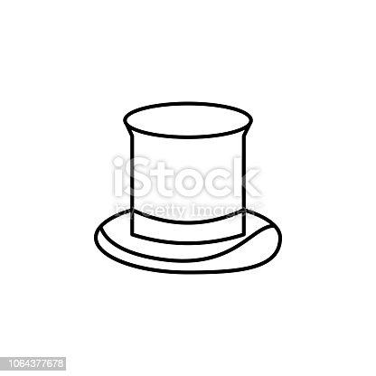 istock icono del sombrero de copa. Elemento de icono del sombrero para  aplicaciones web y 3fb81f44f4c
