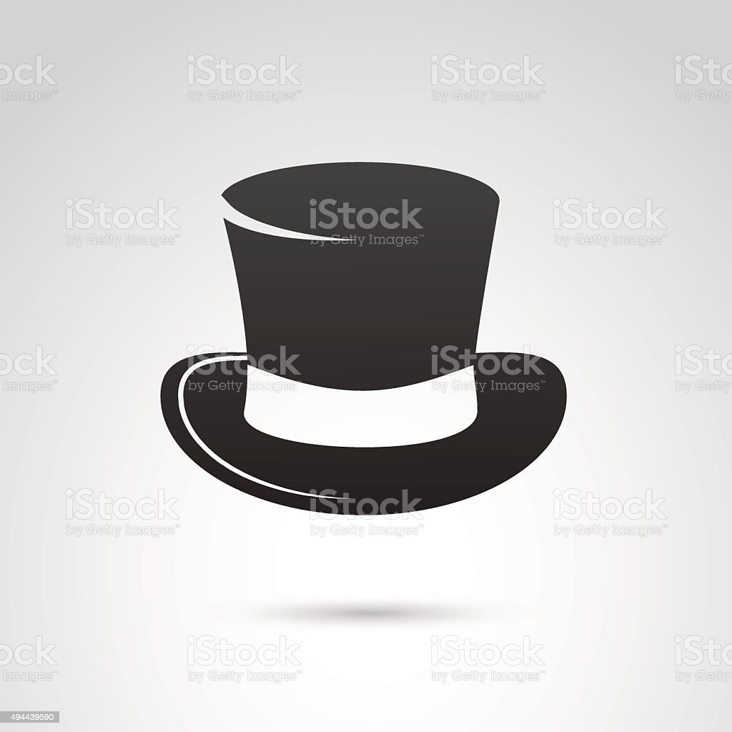 Top hat icon isolated on white background. vector art illustration